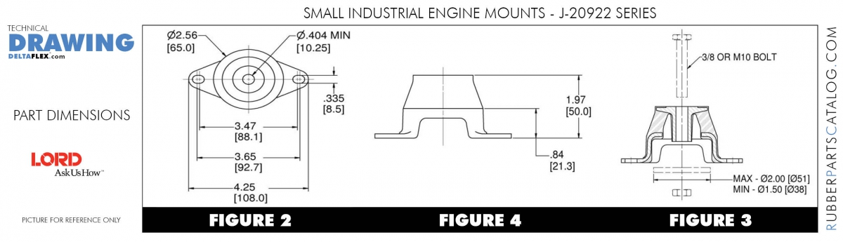 LORD Small Engine Mounts  Delta Flex