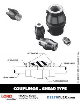 LORD DYNAFLEX  Rubber Coupling - Shear Type