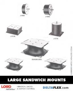 Rubber-Parts-Catalog-Delta-Flex-LORD-Corporation-Flex-Bolt-LARGE-Sandwich-Mounts