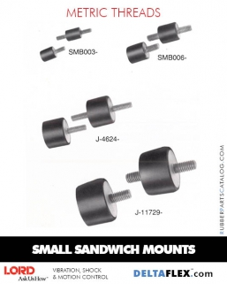 Rubber-Parts-Catalog-Delta-Flex-LORD-Corporation-Flex-Bolt-Small-Sandwich-Mounts-Metric