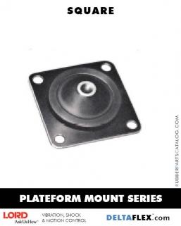 Delta Flex Vibration Isolator LORD Plateform Mount Series | Square
