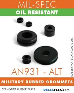 AN931 (ALT) MILITARY GROMMETS | OIL RESISTANT MIL-SPEC RUBBER GROMMET