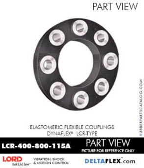 Rubber-Parts-Catalog-Delta-Flex-LORD-DYNAFLEX-Coupling-LCR-Type-LCR-400-800-115A