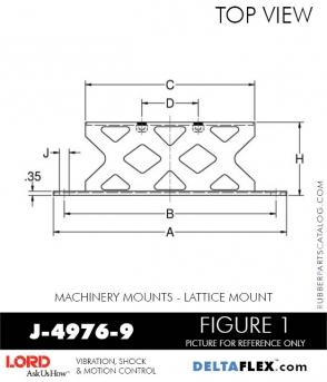 RUBBER-PARTS-CATALOG-DELTA-FLEX-LORD-CORPORATION-VIBRATION-ISOLATER-Machinery-Mounts-LATTICE-MOUNT-J-4976-9