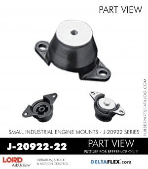 RUBBER-PARTS-CATALOG-DELTAFLEX-Vibration-Isolator-LORD-Small-Industrial-Engine-Mount-J-20922-Series-J-20922-22